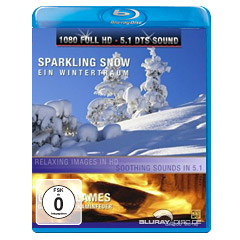 Sparkling Snow / Cosy Flames (Blu-ray)