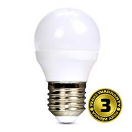 Solight LED žárovka, miniglobe, 4W, E27, 3000K, 310lm