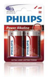 Philips baterie D LR20P2B/10 Power Alkaline, alkalická - 2ks