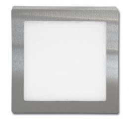 LED panel chromový pøisazený Ecolite 12W, LED-CSQ-12W/4100/CHR, 17 x 17 cm