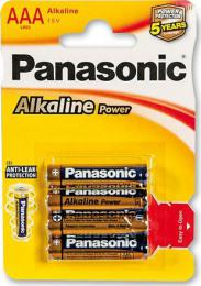 Panasonic baterie Alkaline LR03 Power Bronze AAA, 4 ks blistr