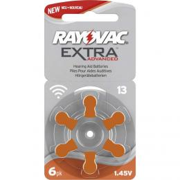 Rayovac Extra Advanced vel. 13, 6 ks, 1,45V, baterie do naslouchátek PR48