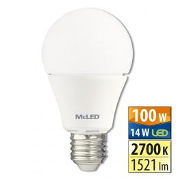 McLED LED žárovka 14 W E27 2700 K 240 °