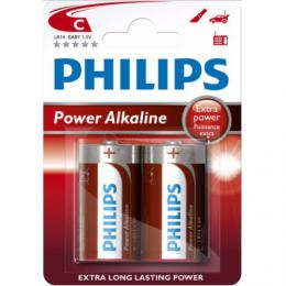 Philips baterie C LR14 mono Power Alkaline C LR14P2B/10 2ks blistr