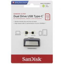 Flash disk SanDisk Ultra Dual USB-C Drive 32 GB