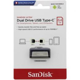 Flash disk SanDisk Ultra Dual USB-C Drive 64 GB