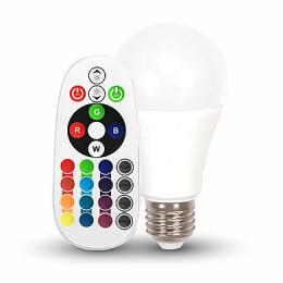 LED Bulb V-Tac - 6W E27 A60 RGB With Remote Control Warm White, VT-2007 (SKU7121)