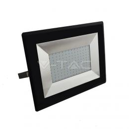 LED reflektor V-TAC 100W LED Floodlight SMD E-Series Black Body Warm White, 8500lm, 3000K, IP65, SKU5964