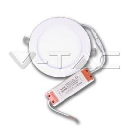 LED vestavné svítidlo Premium Panel Downlight V-Tac 18W, 4000K, 1500lm, IP20, Round Natural White SKU 4861