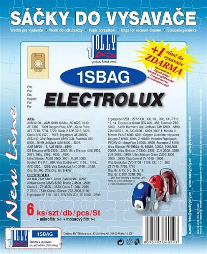 Sáèky do vysavaèe Jolly 1SBAG Electrolux 6ks 6059